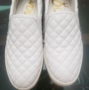 New Sam Edelman leather white Slip-on loafers